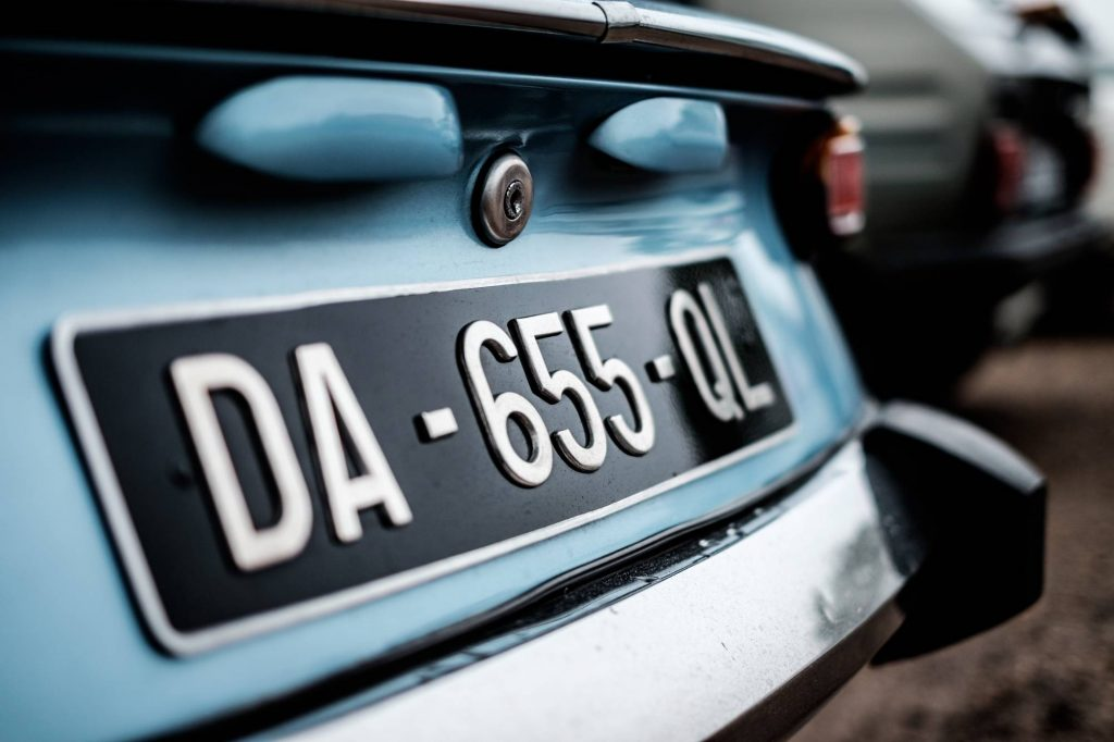 Car with Foreign Licence Plates